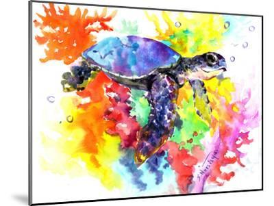Coral Reef Sea Turtle 2-Suren Nersisyan-Mounted Art Print
