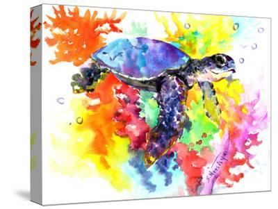 Coral Reef Sea Turtle 2-Suren Nersisyan-Stretched Canvas Print