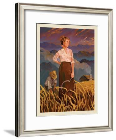 Great Smoky Mountains National Park: Pioneer Woman-Anderson Design Group-Framed Art Print