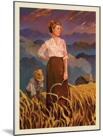 Great Smoky Mountains National Park: Pioneer Woman-Anderson Design Group-Mounted Art Print