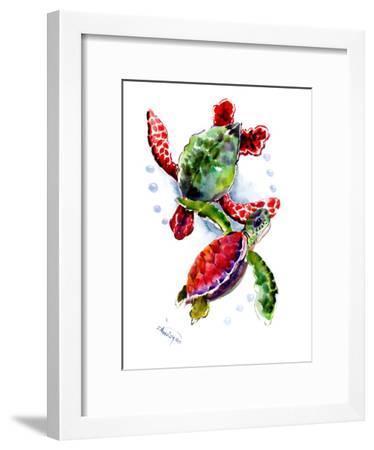 Sea Turtle 10-Suren Nersisyan-Framed Art Print