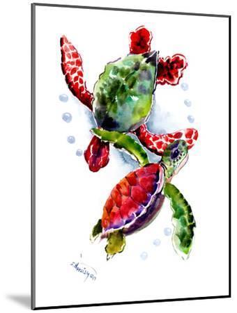 Sea Turtle 10-Suren Nersisyan-Mounted Art Print