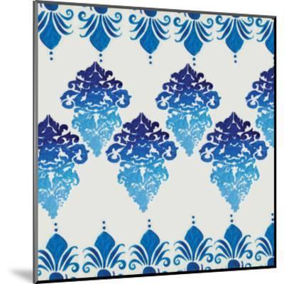 Blue Ombre Damask 4-Boho Hue Studio-Mounted Art Print