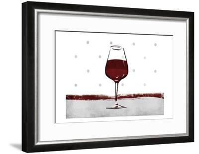 Pokadot Wine-Jace Grey-Framed Art Print