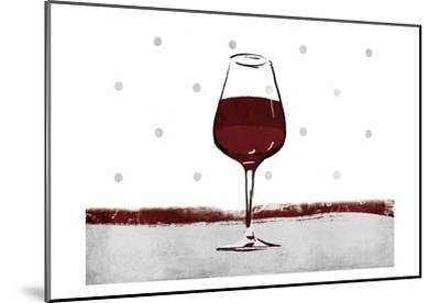 Pokadot Wine-Jace Grey-Mounted Art Print