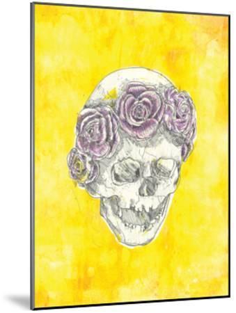 Skull with Rose Crown-Justine Bassani-Mounted Art Print