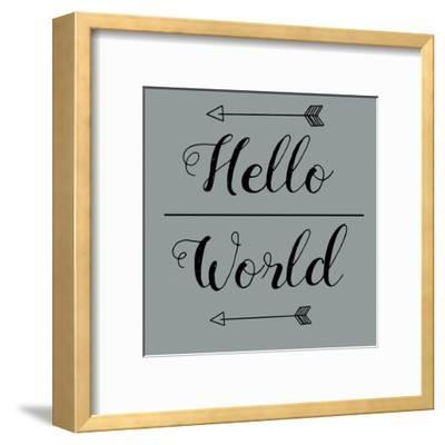 Hello World-Jelena Matic-Framed Art Print