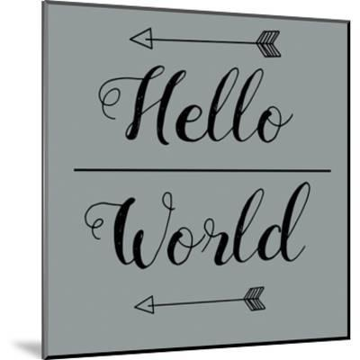 Hello World-Jelena Matic-Mounted Art Print