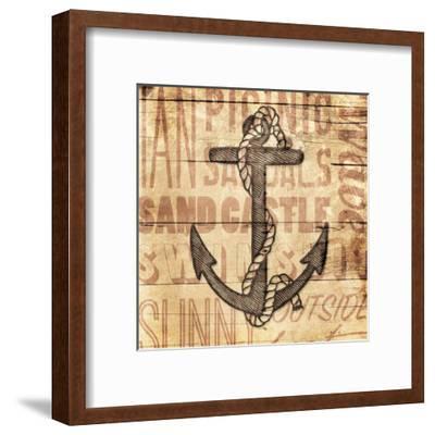 Wooden Anchor-Jace Grey-Framed Art Print