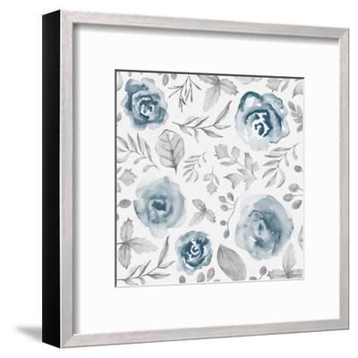 Blue Fade Foliage-Alicia Vidal-Framed Art Print