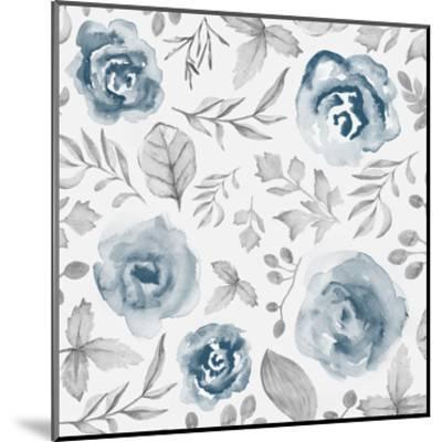 Blue Fade Foliage-Alicia Vidal-Mounted Art Print