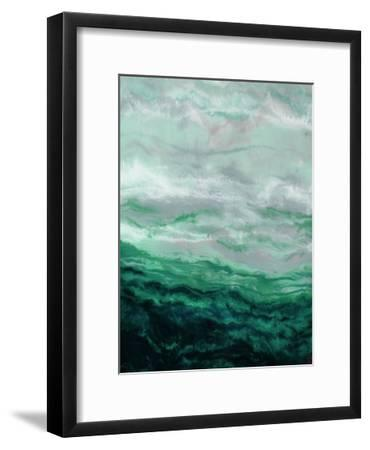 Green Waterfall I-Beverly Dyer-Framed Art Print