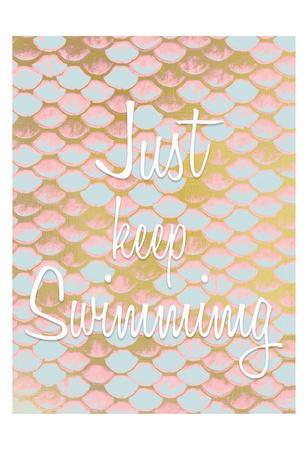 Be a Mermaid 3-Kimberly Allen-Framed Art Print