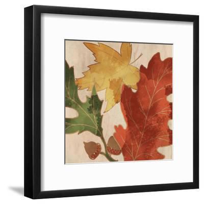 Fall Leaves Square 2-Kimberly Allen-Framed Art Print