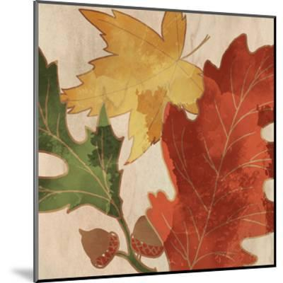 Fall Leaves Square 2-Kimberly Allen-Mounted Art Print