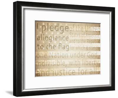 Pledge of Allegiance-Kimberly Allen-Framed Art Print