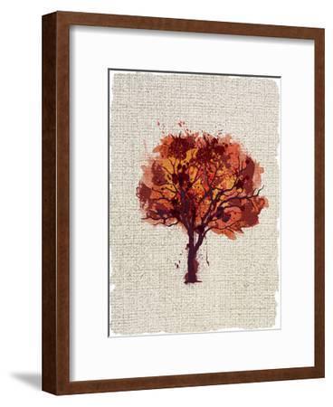 Splatter Trees 2-Kimberly Allen-Framed Art Print