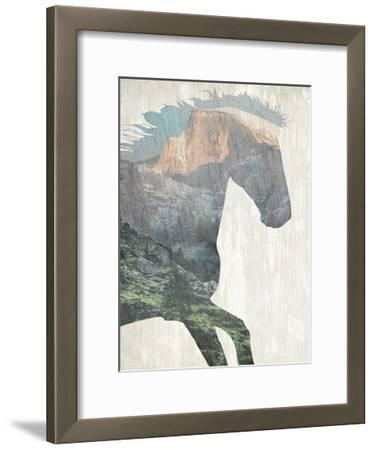 Running Mountains-Kimberly Allen-Framed Art Print