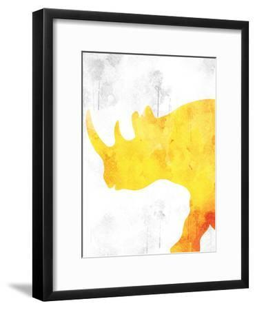 Watercolor Silhouette 4-Kimberly Allen-Framed Art Print