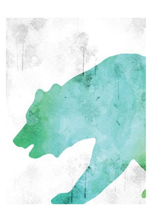 Watercolor Silhouette 6-Kimberly Allen-Framed Art Print