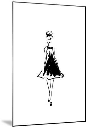 Glitter Fashion 1 v2-Kimberly Allen-Mounted Art Print