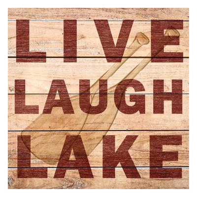 Live Laugh Lake-Kimberly Allen-Framed Art Print