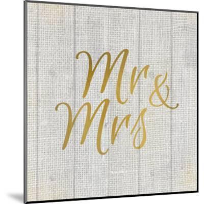 Mr and Mrs Burlap-Kimberly Allen-Mounted Art Print