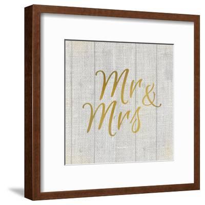 Mr and Mrs Burlap-Kimberly Allen-Framed Art Print