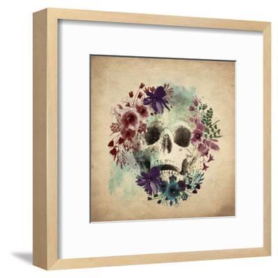 Floral Skull 1 v2-Kimberly Allen-Framed Art Print