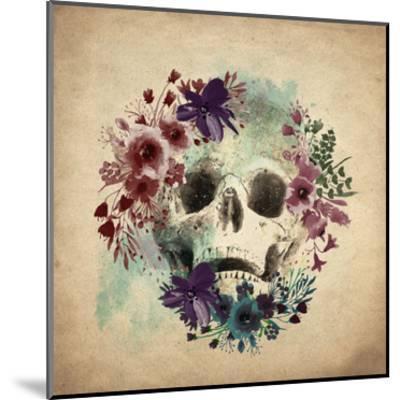 Floral Skull 1 v2-Kimberly Allen-Mounted Art Print