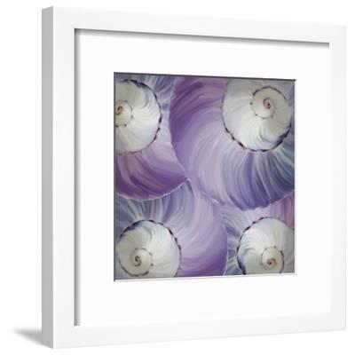 Violet Shell 1-Kimberly Allen-Framed Art Print