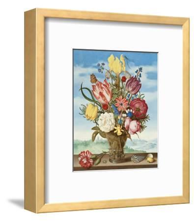 Ambrosius Bosschaert, Bouquet of Flowers on a Ledge-Dutch Florals-Framed Art Print