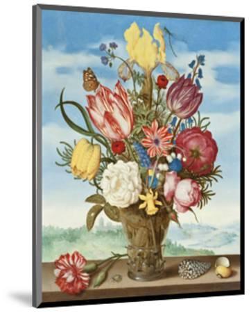Ambrosius Bosschaert, Bouquet of Flowers on a Ledge-Dutch Florals-Mounted Art Print