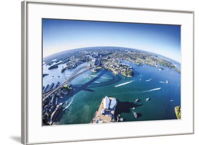 Aerial View of Sydney-Berthold Dieckfoss-Framed Giclee Print