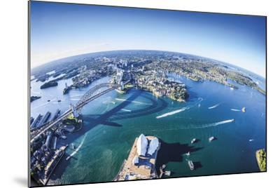 Aerial View of Sydney-Berthold Dieckfoss-Mounted Giclee Print