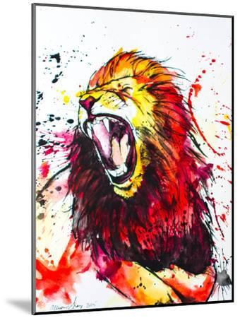 Roaring Lion-Allison Gray-Mounted Art Print