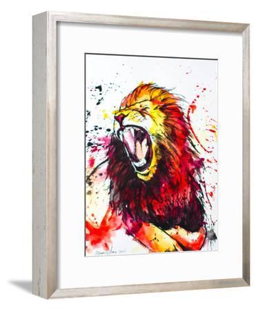 Roaring Lion-Allison Gray-Framed Art Print