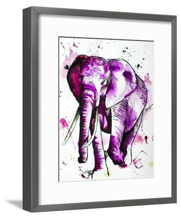 Purple Elephant-Allison Gray-Framed Art Print