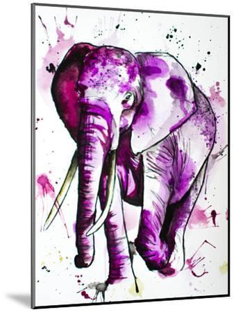 Purple Elephant-Allison Gray-Mounted Art Print