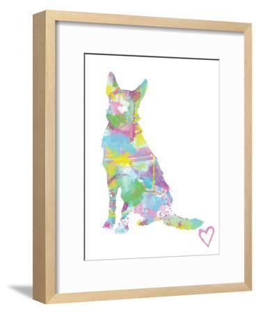 German Shepherd Silhouette-Allison Gray-Framed Art Print