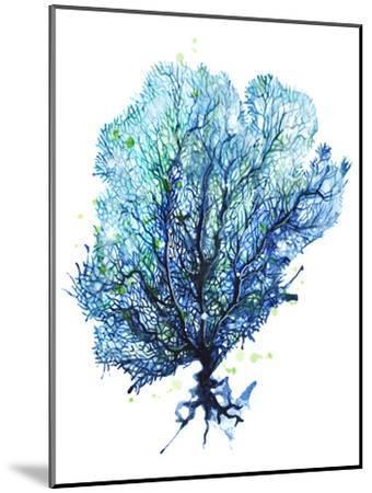 Sea Fan Aqua-Sam Nagel-Mounted Art Print