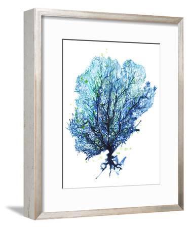Sea Fan Aqua-Sam Nagel-Framed Art Print