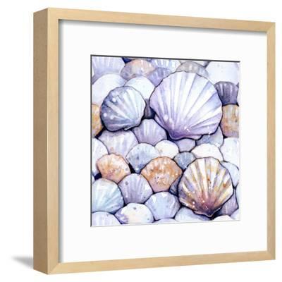Scallop Shells Amethyst-Sam Nagel-Framed Art Print
