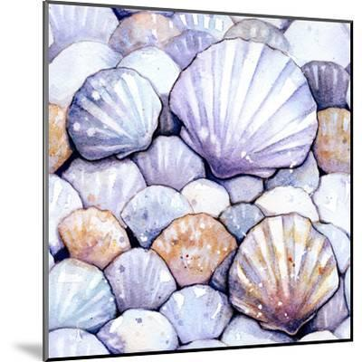 Scallop Shells Amethyst-Sam Nagel-Mounted Art Print