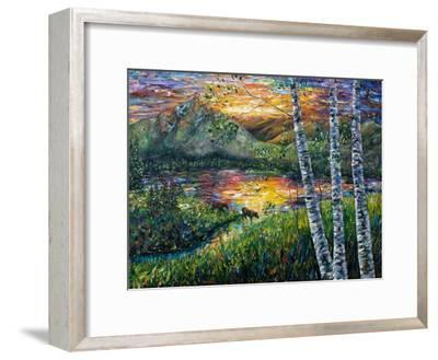 Sleeping Meadow-Olena Art-Framed Art Print