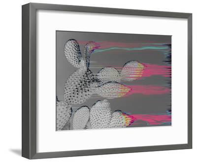 Glitched Cactus-Emanuela Carratoni-Framed Art Print