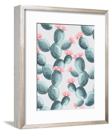 Painted Cactus-Emanuela Carratoni-Framed Art Print