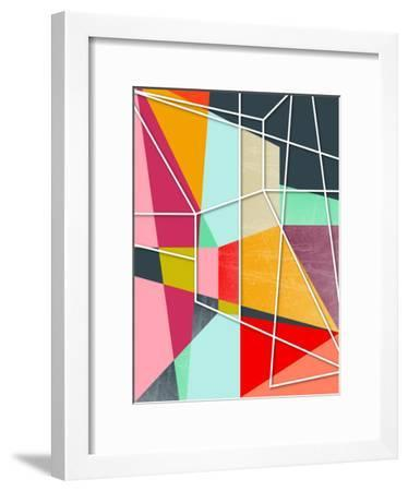 Colorblock V-Susana Paz-Framed Art Print