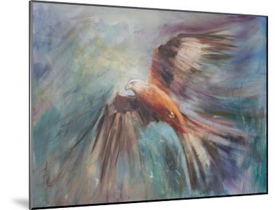 Red Kite Riding The Thermals 2-Anne Farrall Doyle-Mounted Art Print