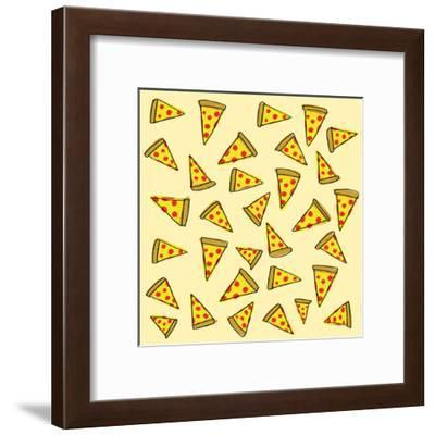 Pizza Party-Leah Flores-Framed Art Print